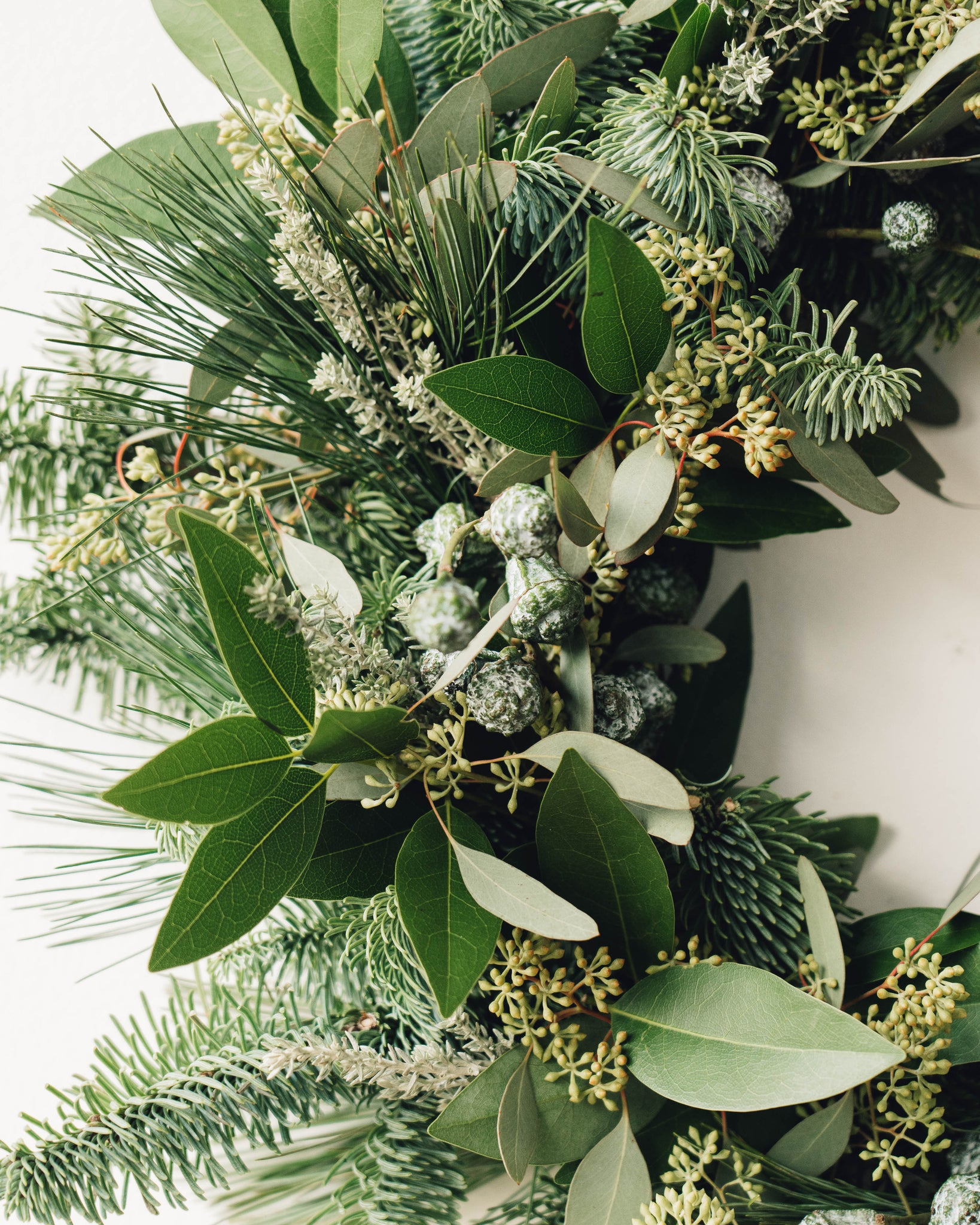 Holiday Wreath, Eucalyptus Mix