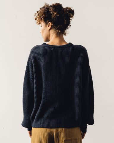 7115 Poet Sleeves Sweater, Navy