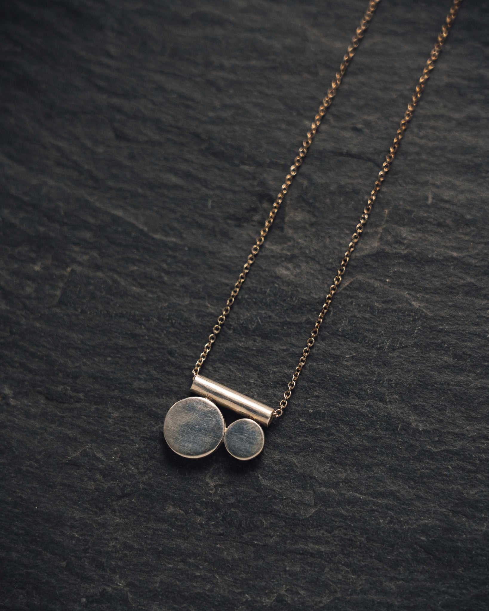 Another Feather Meridian Necklace, Sterling Silver