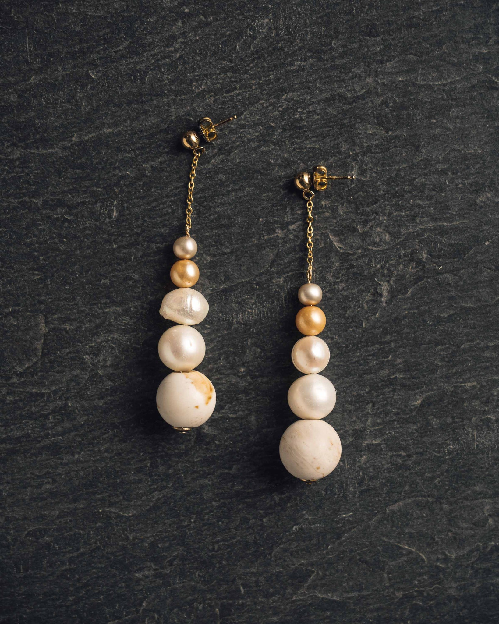 Rou Jewelry Pearl Cairn Earring