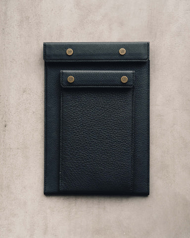 Postalco All Leather Snap Pad, Black
