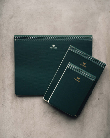 Postalco Bank Green Notebooks