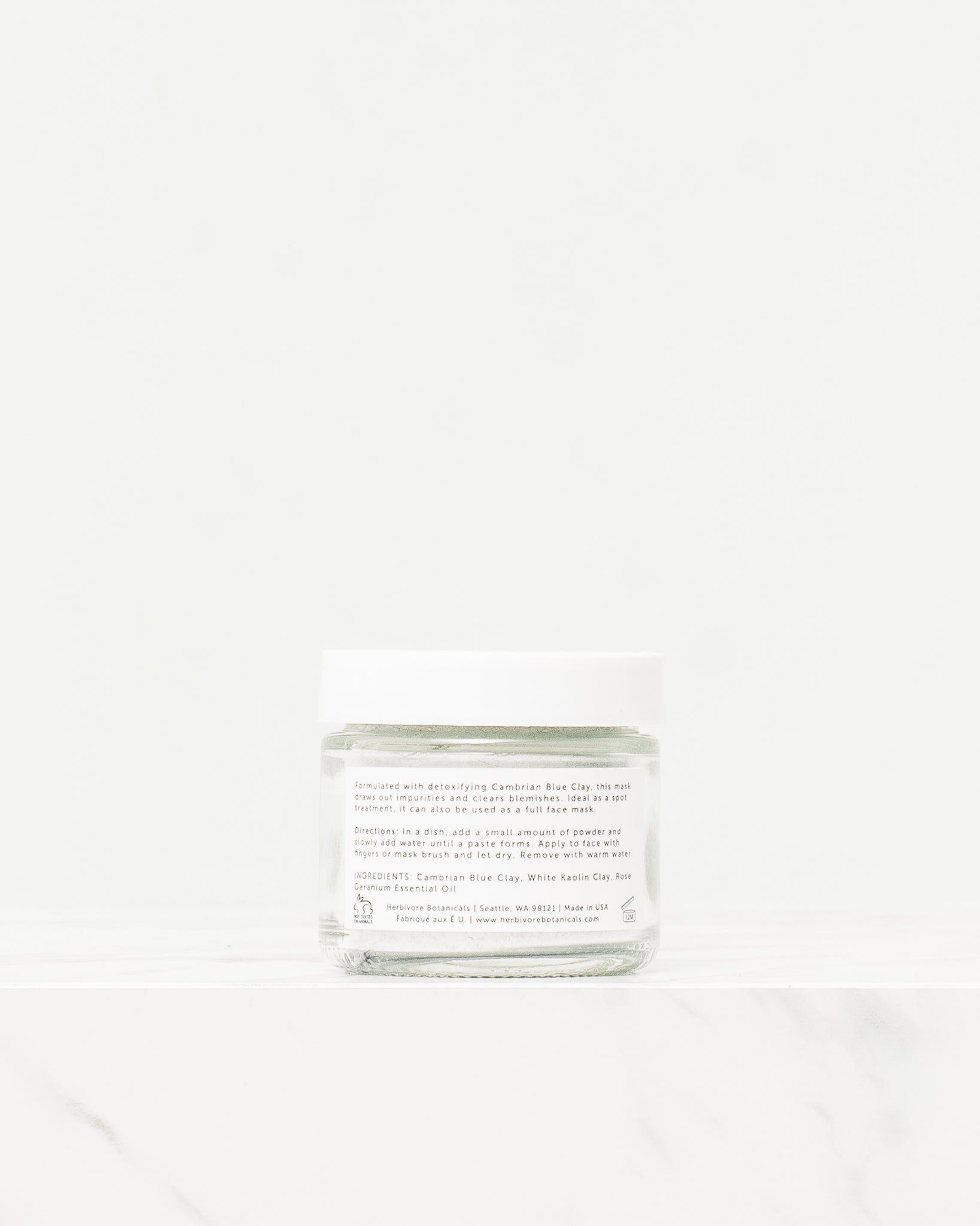 Herbivore Botanicals Blue Clay Spot Treatment Dry Mask