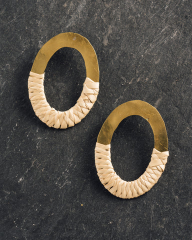 Crescioni Paz Earrings, Palm