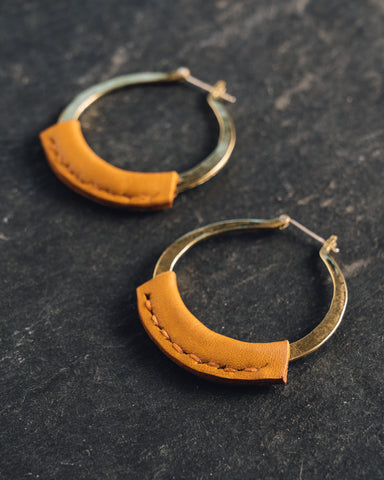 Crescioni Kiva Earrings, Turmeric