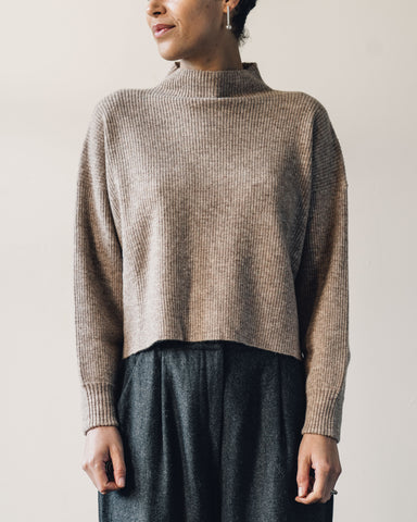 7115 Ribbed Mockneck Sweater, Faune