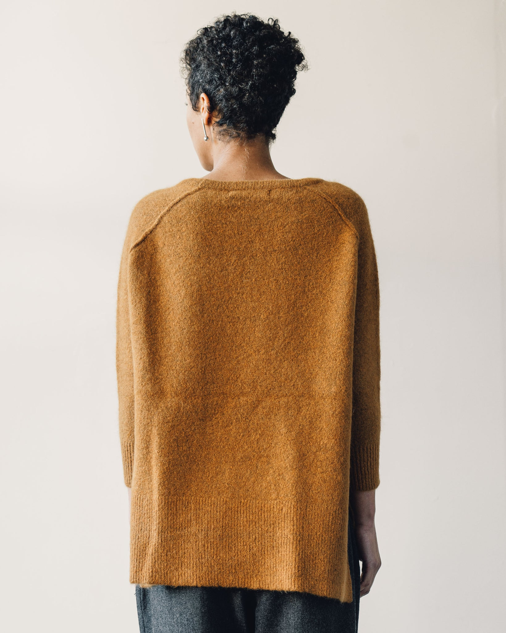 7115 Exposed Seams Sweater, Pumpkin