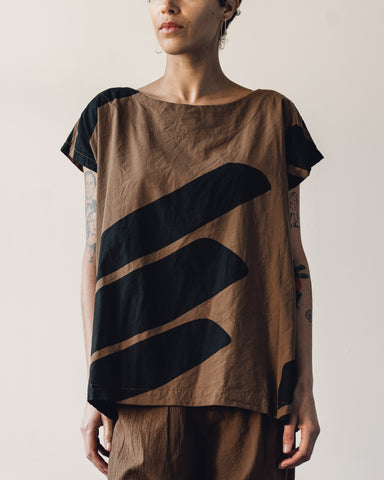 Uzi Oversized Tunic, Brown