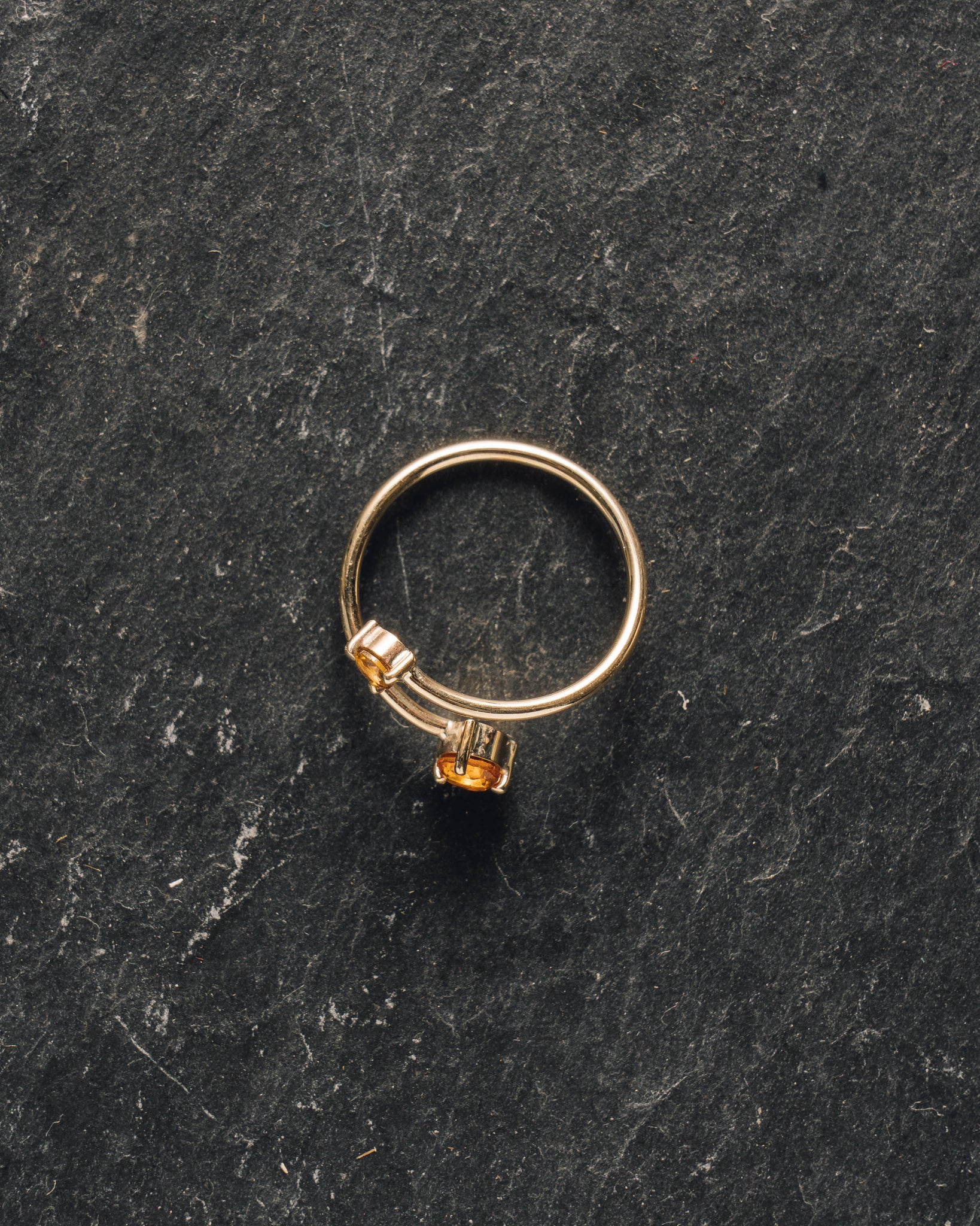 Mirta Citrine and Tourmaline Gold Wrap Ring