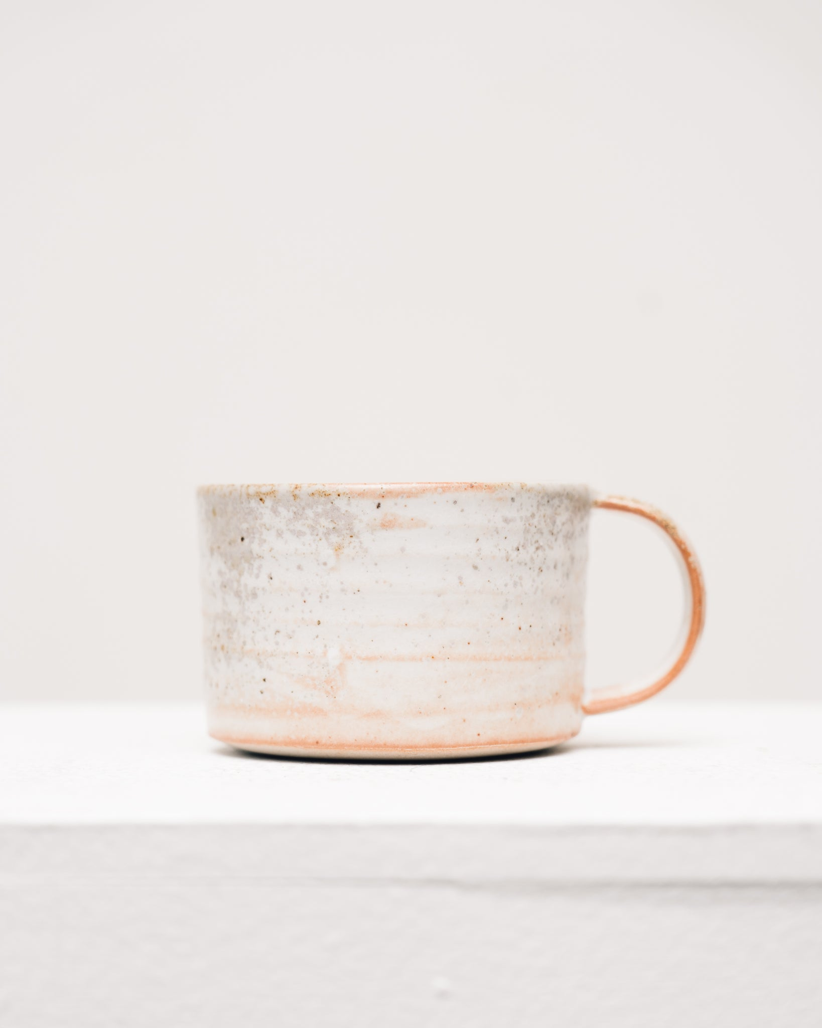 Natasha Alphonse Peach Shino Mug, Reduction Fired