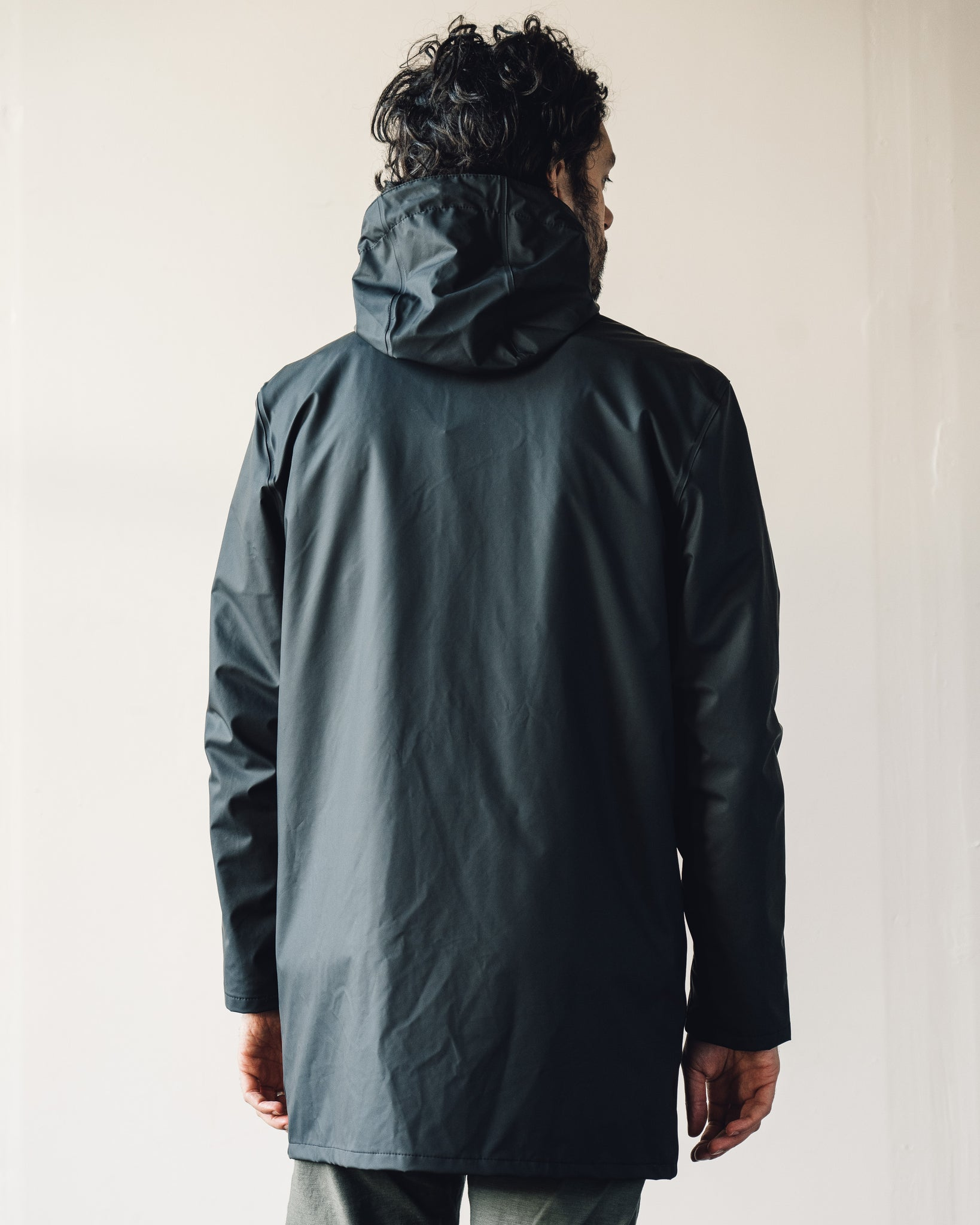 Stutterheim Stockholm Lightweight Raincoat, Black