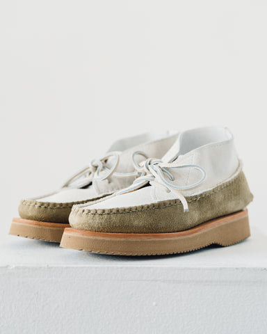 Yuketen x W'menswear Ponytail Desert Boot, White/Natural