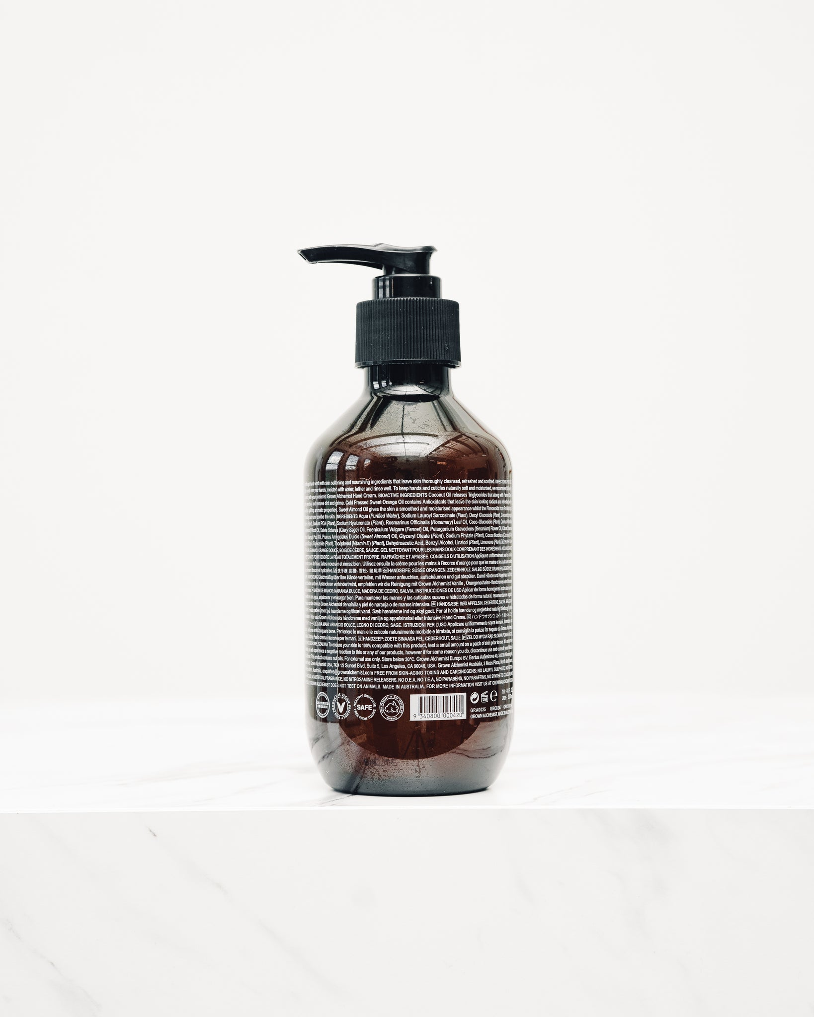Grown Alchemist Hand Wash, Sweet Orange, Cedarwood, Sage
