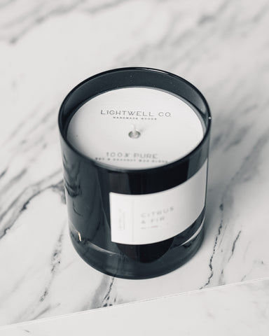 Lightwell Tumbler Candle, Black