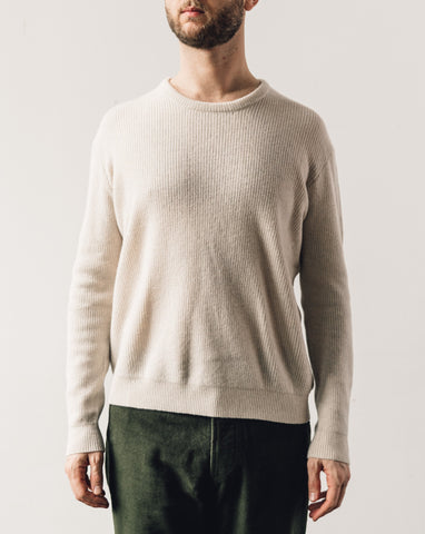 7115 Men's Fitted Crewneck Pullover, Bone