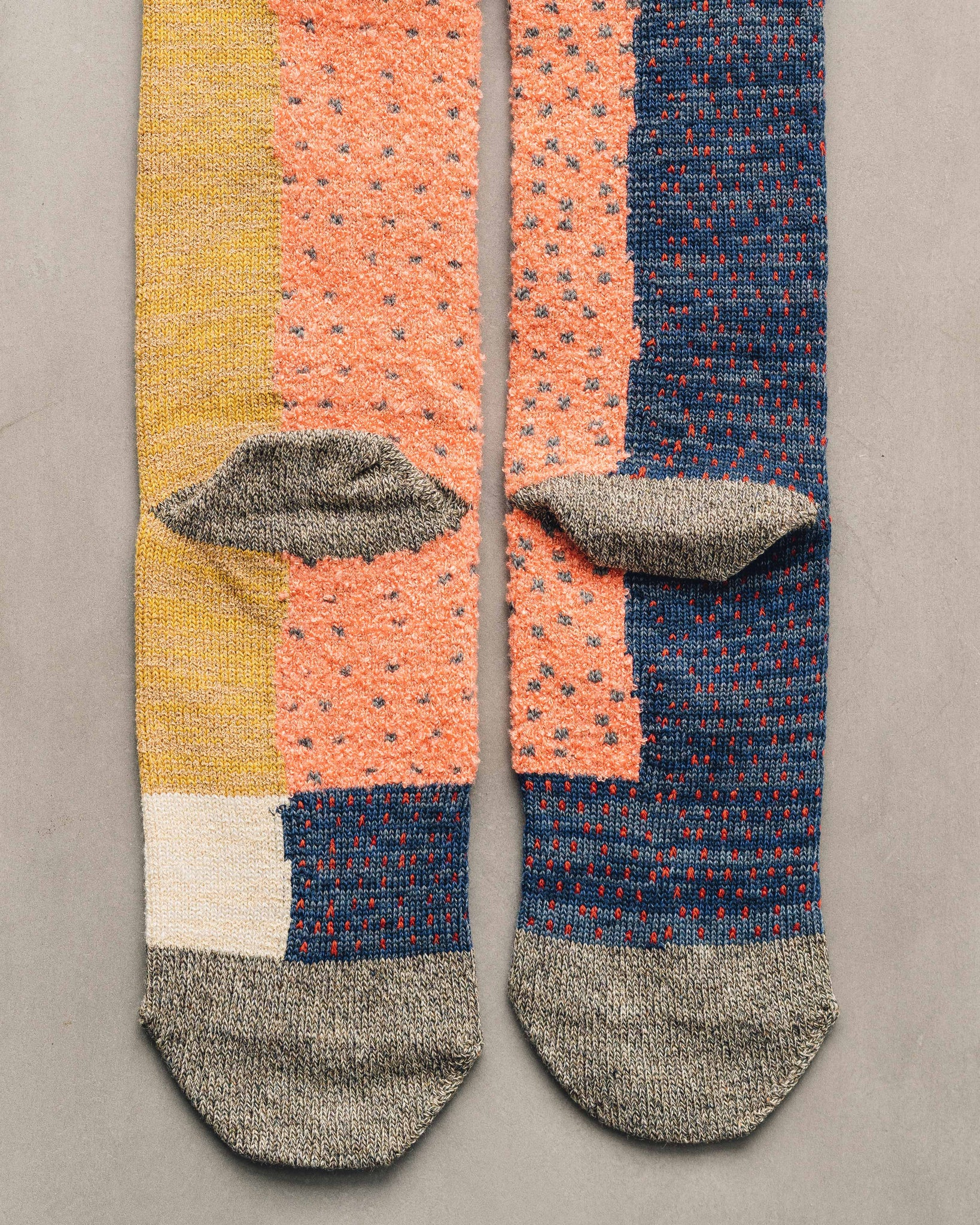 Kapital 96 Yarns Gabbeh Patchwork Socks, Grey