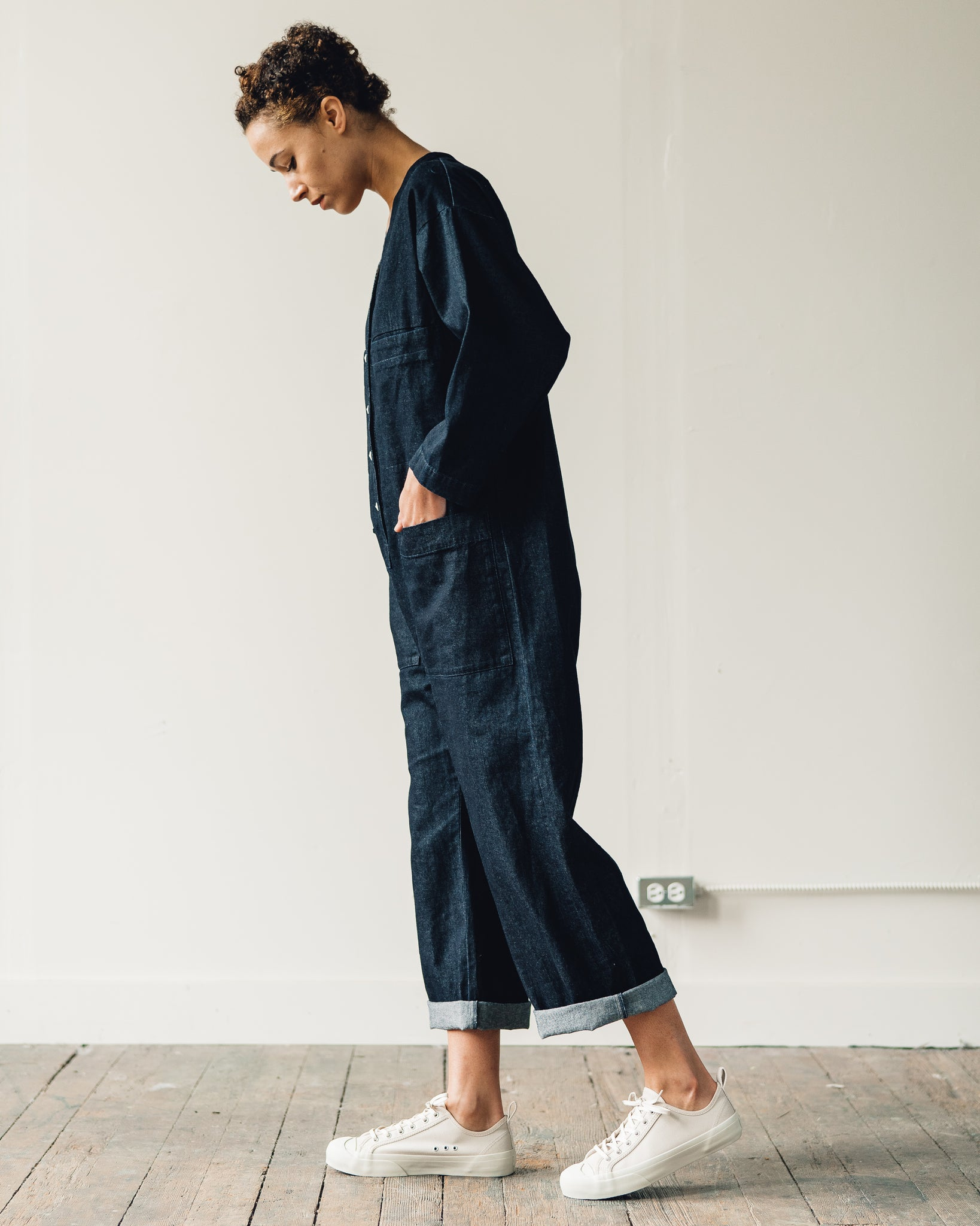 Ilana Kohn Tuck Coverall, Denim