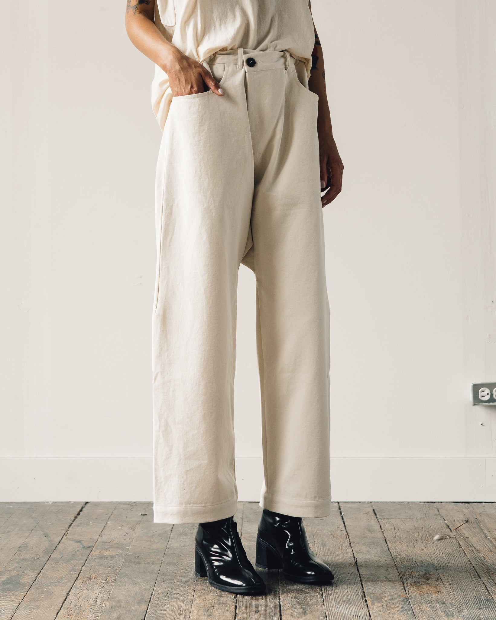 Jan-Jan Van Essche Trousers #53, Kinari Soft Denim