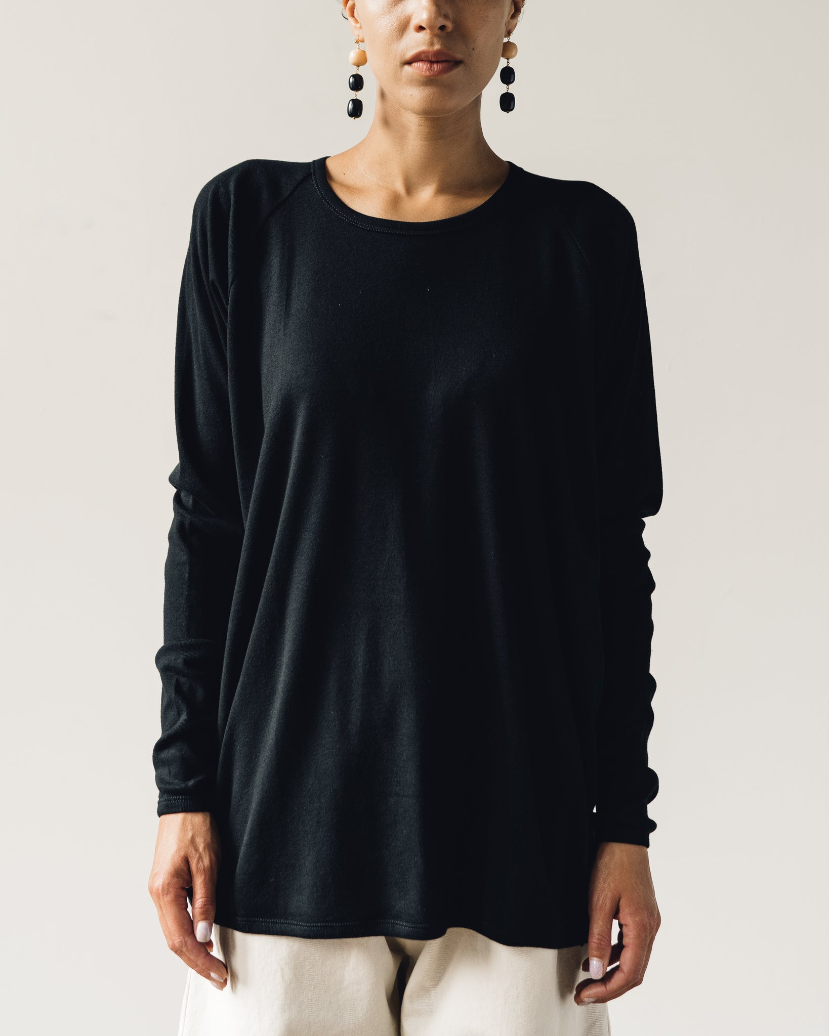 Jan-Jan Van Essche Tee #57, Black 1/1 Rib Cotton