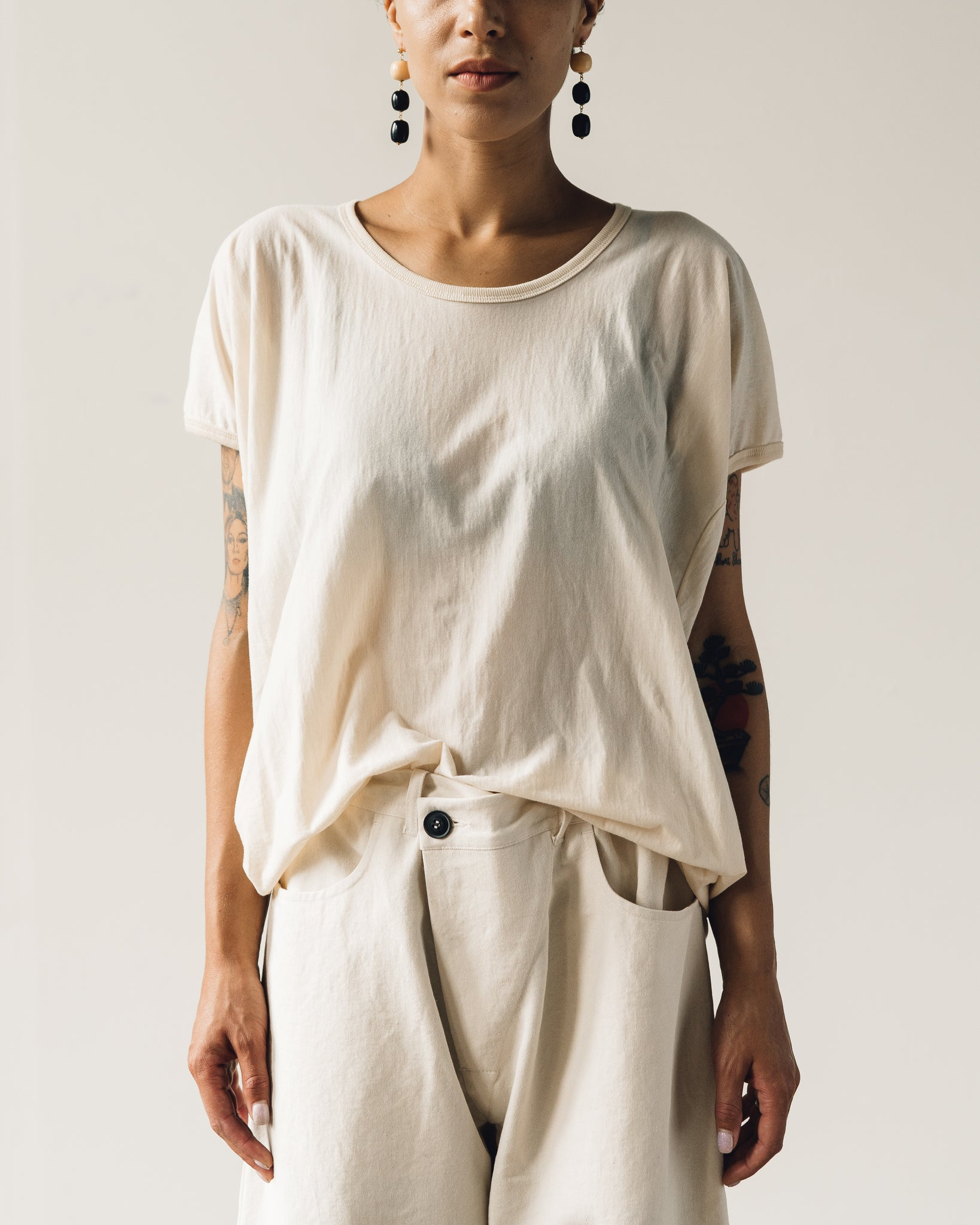 Jan-Jan Van Essche Tee #55, Natural Organic Cotton