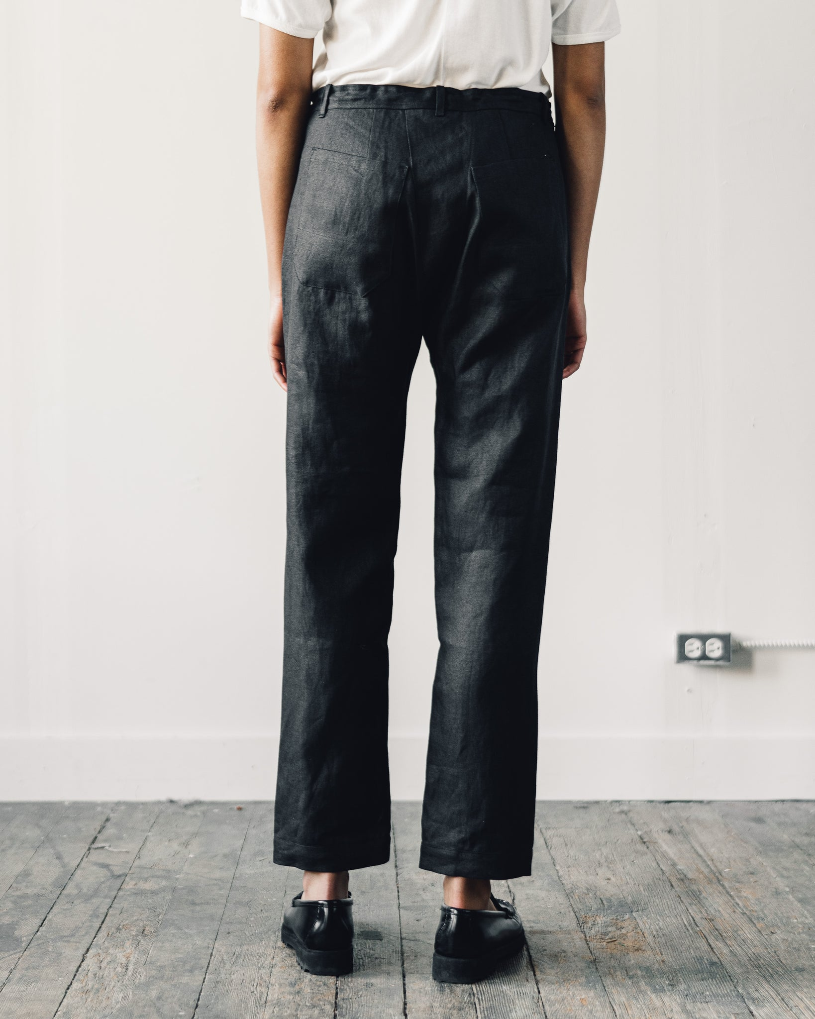 Jan-Jan Van Essche Trouser #49, Black Hemp