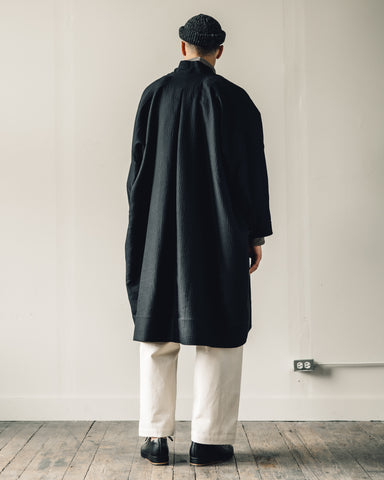 Jan-Jan Van Essche Coat #20, Black Padded Cotton/Wool