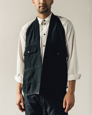 Jan-Jan Van Essche Gilet #10, Black Bamboo Cloth