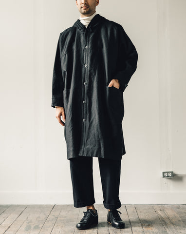 Jan-Jan Van Essche Parka #5, Jet Black Washi Drill