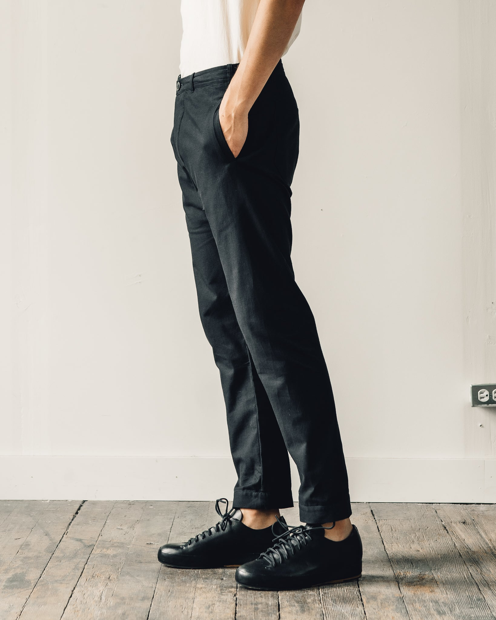 Jan-Jan Van Essche Trousers #49, Black Soft Twill
