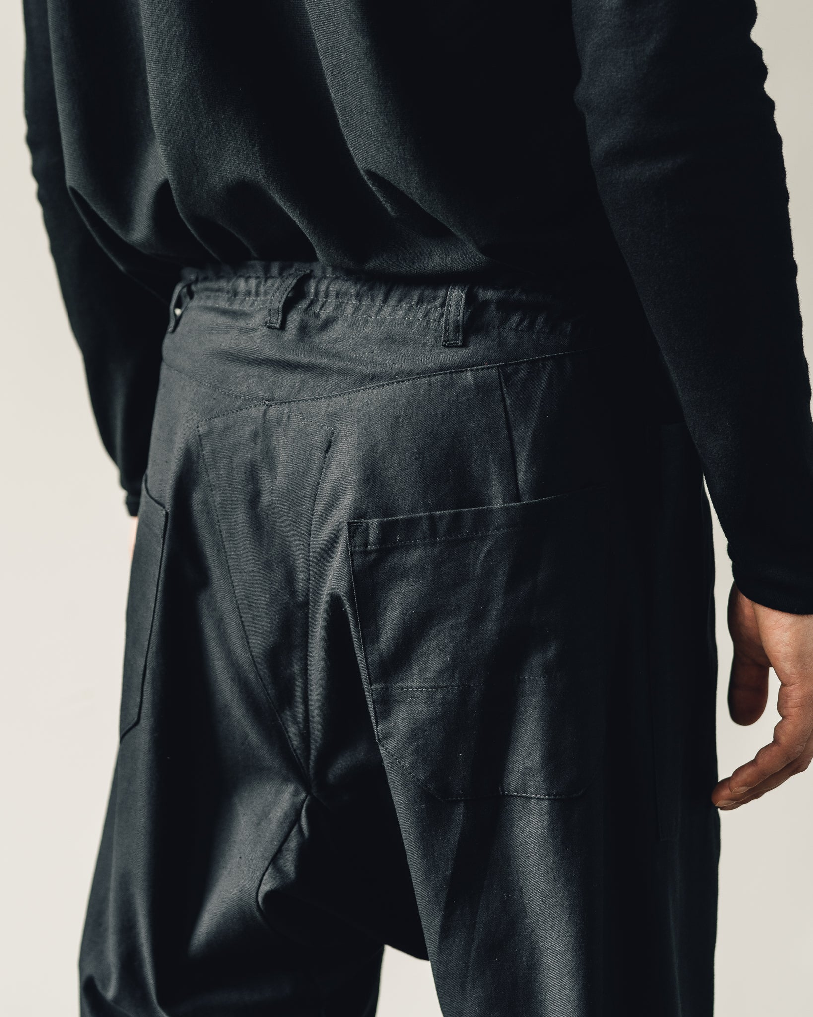 Jan-Jan Van Essche Trousers #50, Black Soft Twill
