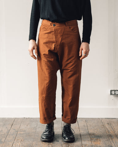 Jan-Jan Van Essche Trouser #53, Rust Twill