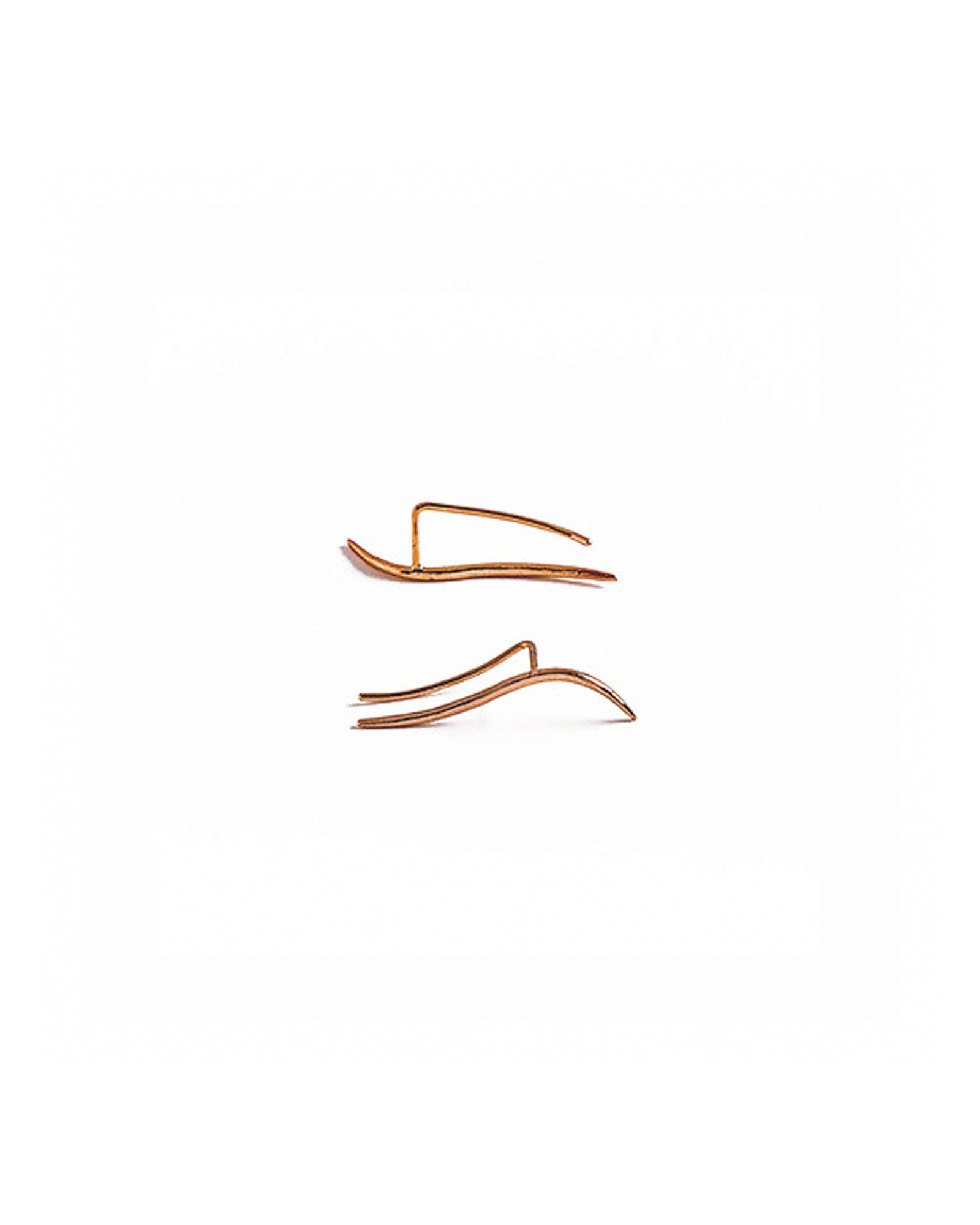 Knobbly Studio Calligraphic Ear Pin Rose Gold
