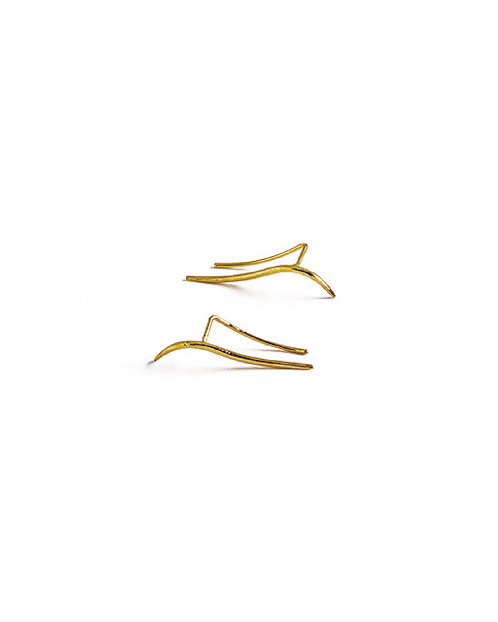 Knobbly Studio Calligraphic Ear Pin Yellow Gold