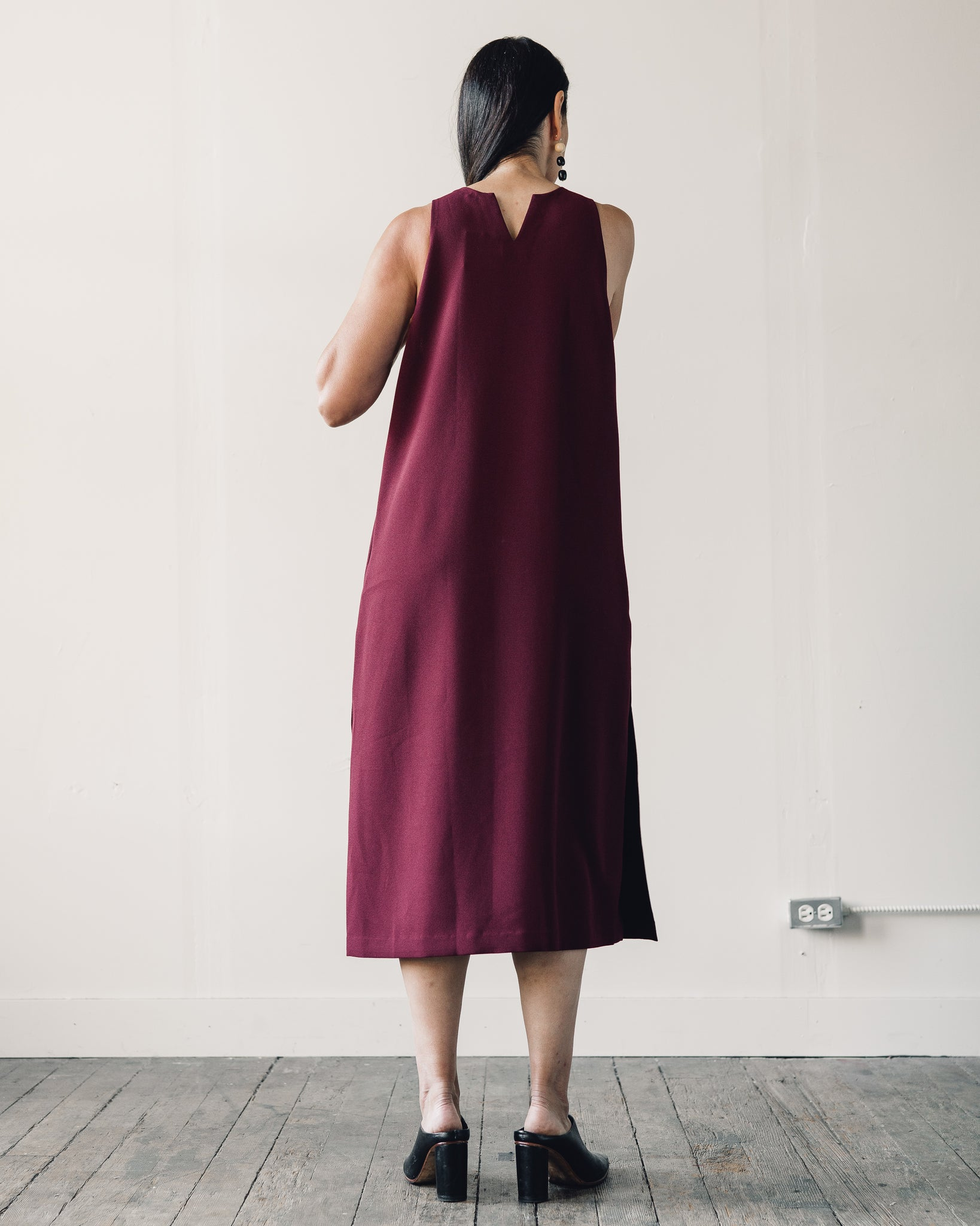 Kaarem Mango Pine Maxi Dress, Burgundy