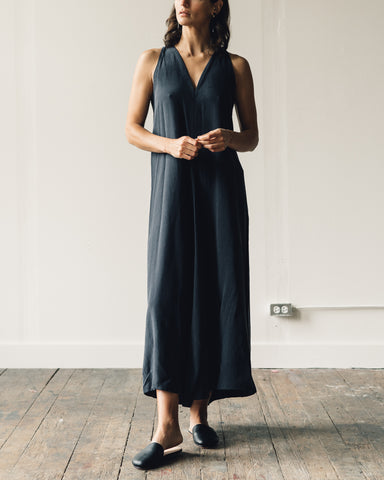 Kaarem Sappan Sleeveless Maxi Dress, Dark Blue