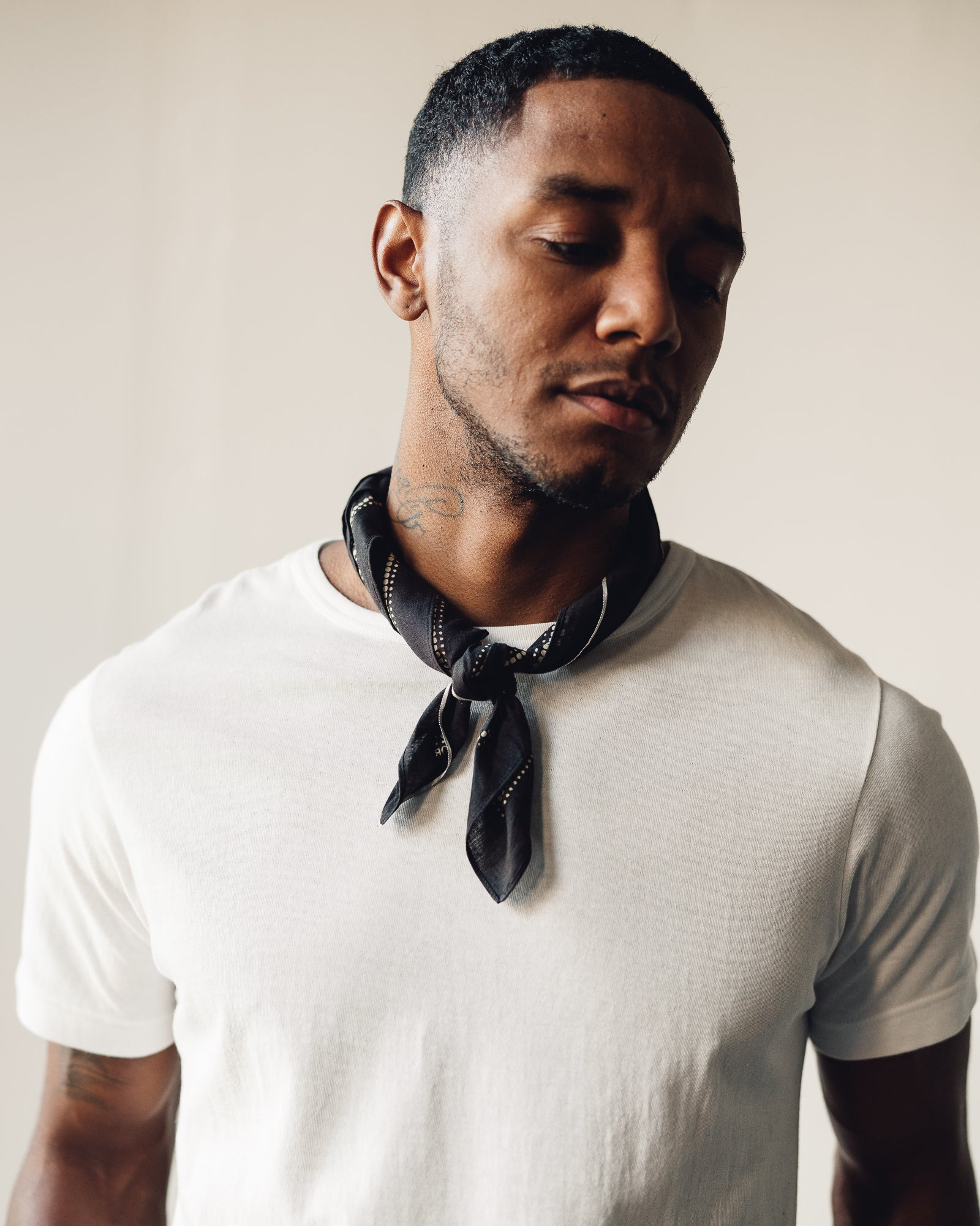 Kapital Fastcolor Selvedge Bandana Sleep, Black