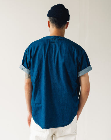 Kapital Denim Baseball Shirt, Kountry Embroidery