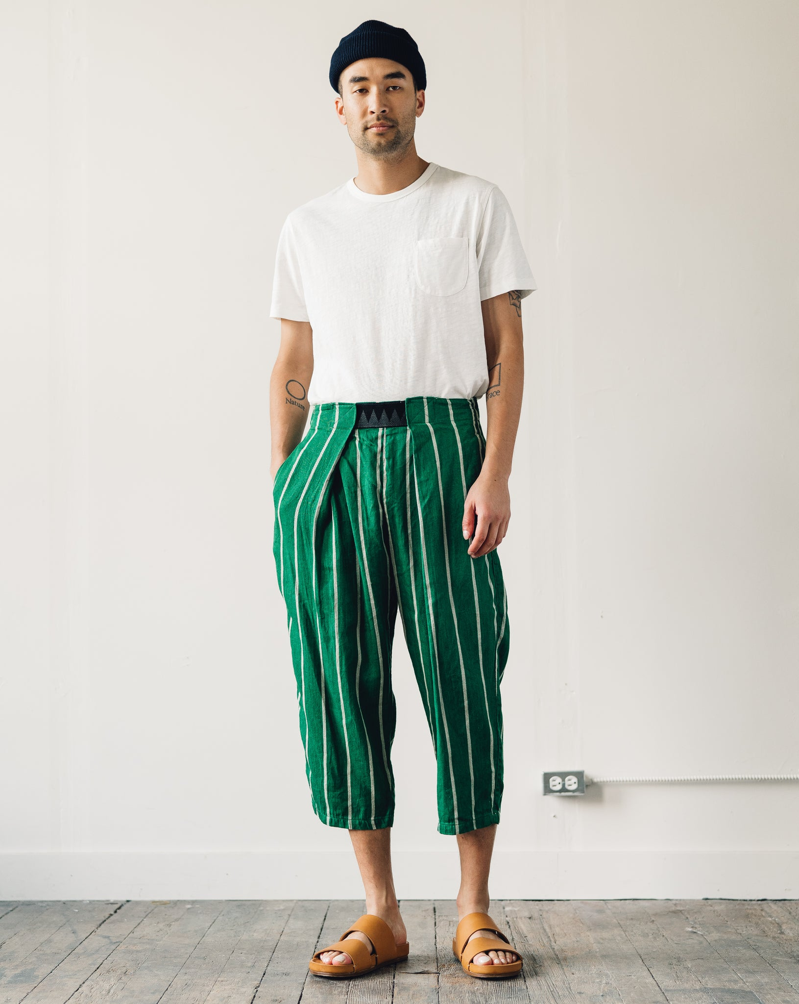 Kapital Easy Beach Go Pants, Green