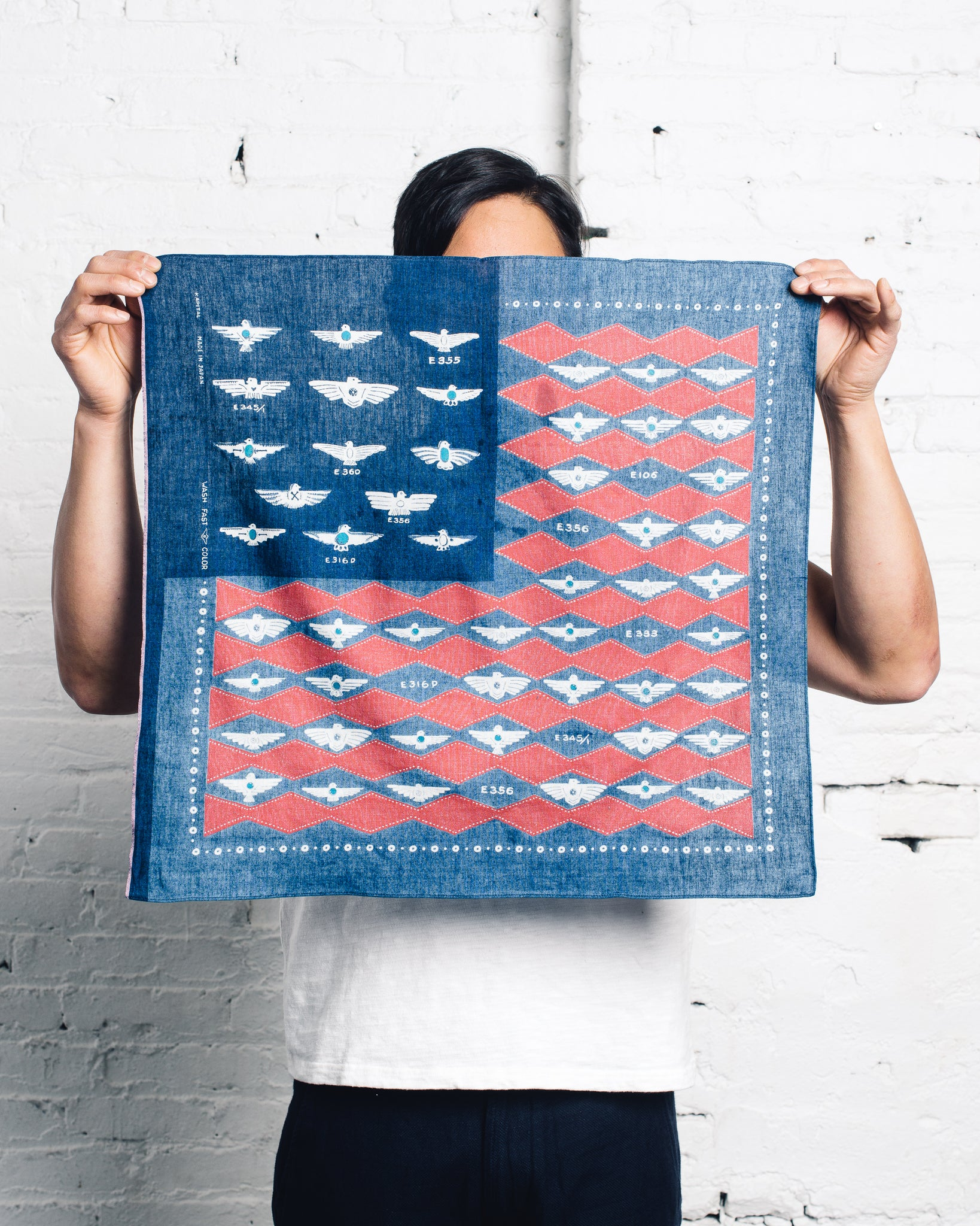 Kapital Dischardge Selvedge Bandana, Flag Harvey