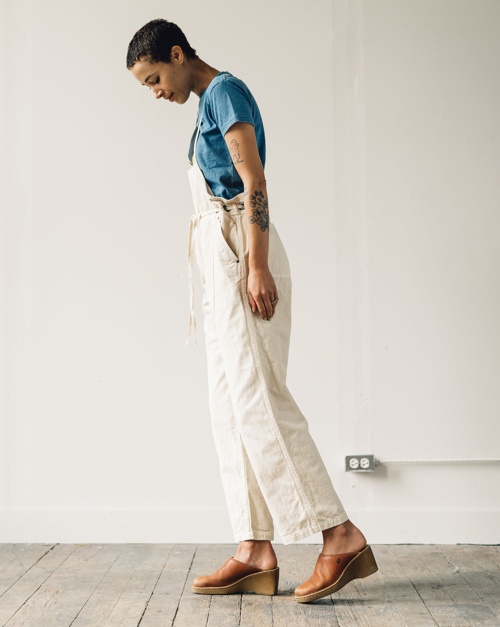 Kapital Light Canvas Welder Overall, Natural