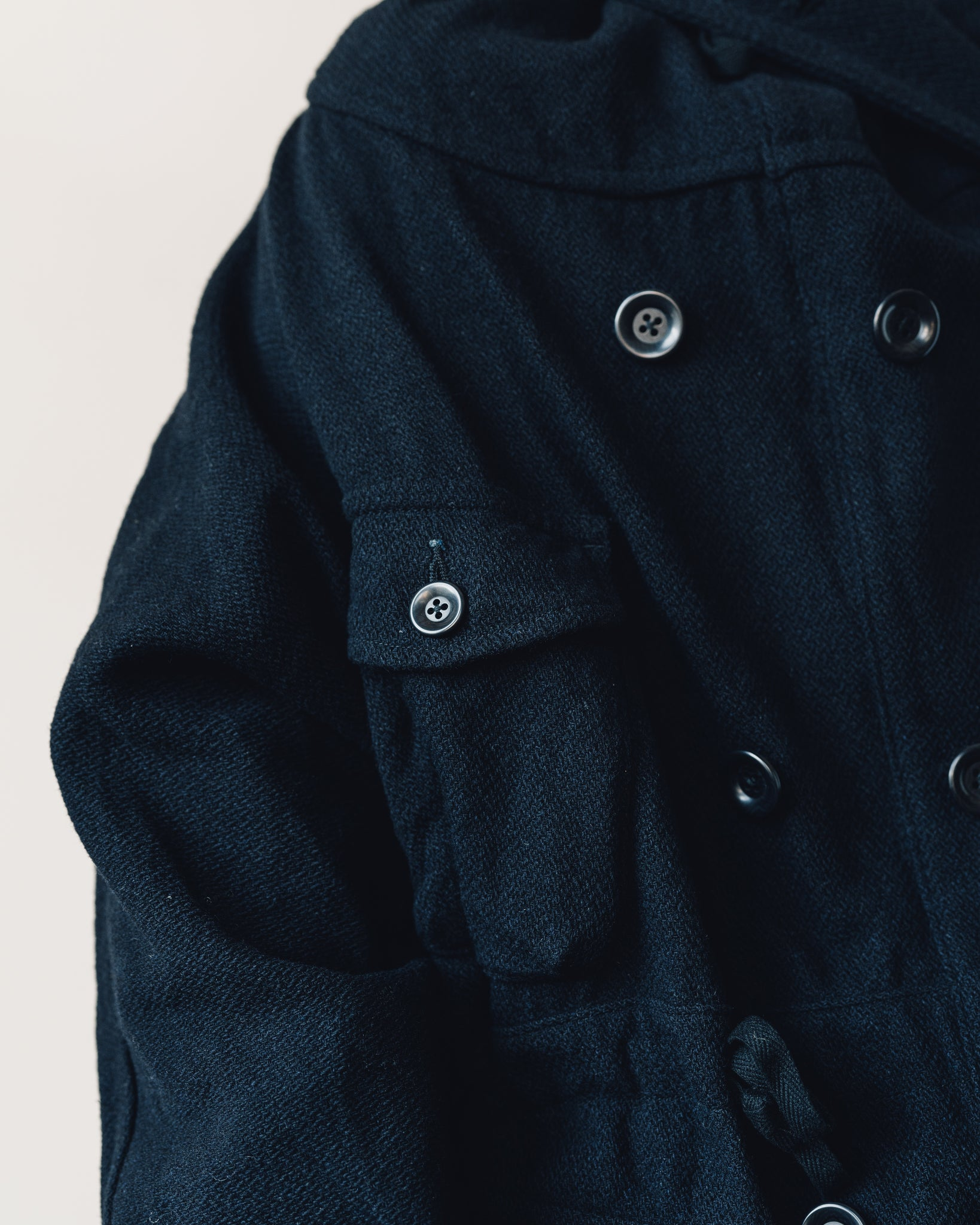 Kapital Vintage Melton Wool Ring Coat, Navy