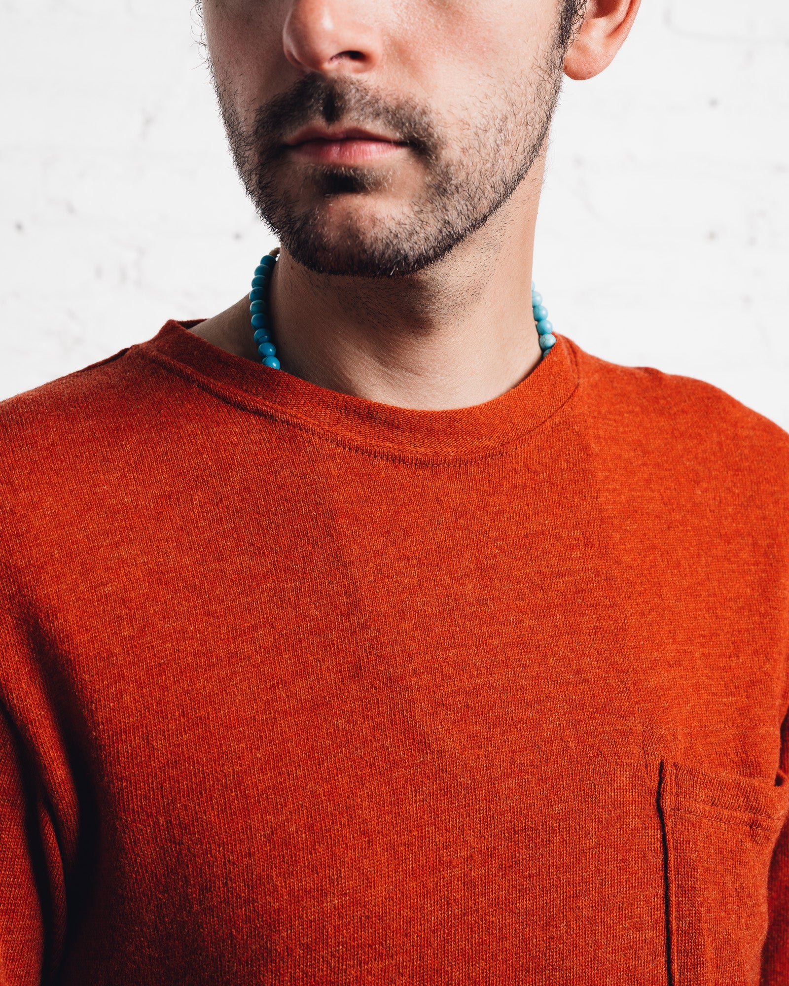Kapital Lamb Wool Crewneck, Orange
