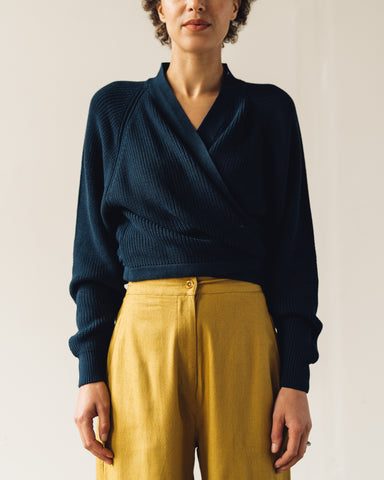 Kowtow Composure Cardigan, Navy
