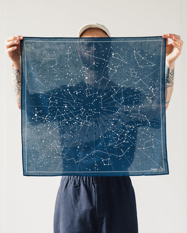 La Paz Sky Map Bandana, Navy