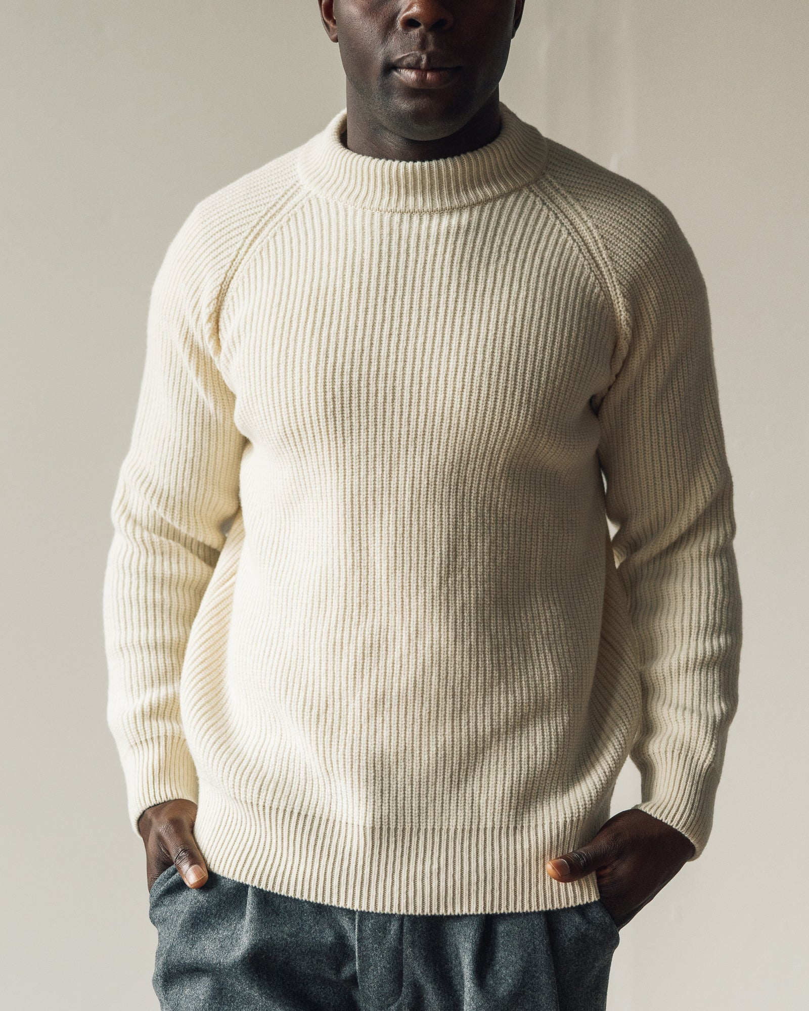 La Paz Prata Mock Sweater, Ecru