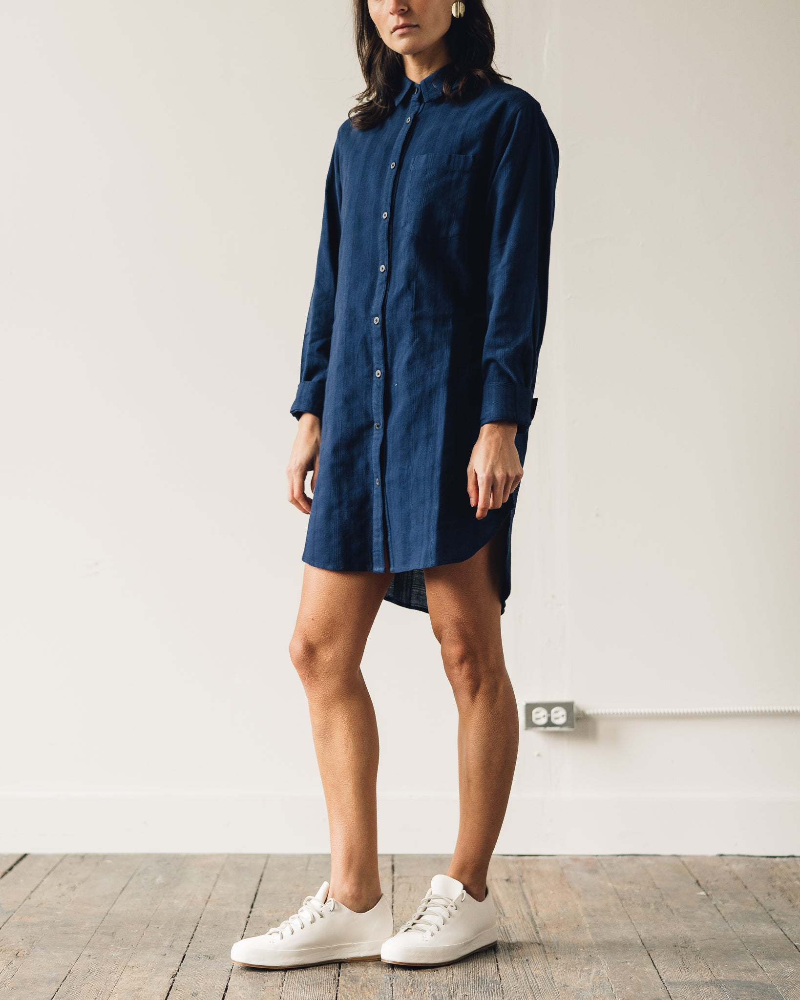 Mara Hoffman Bennett Coverup Dress, Navy
