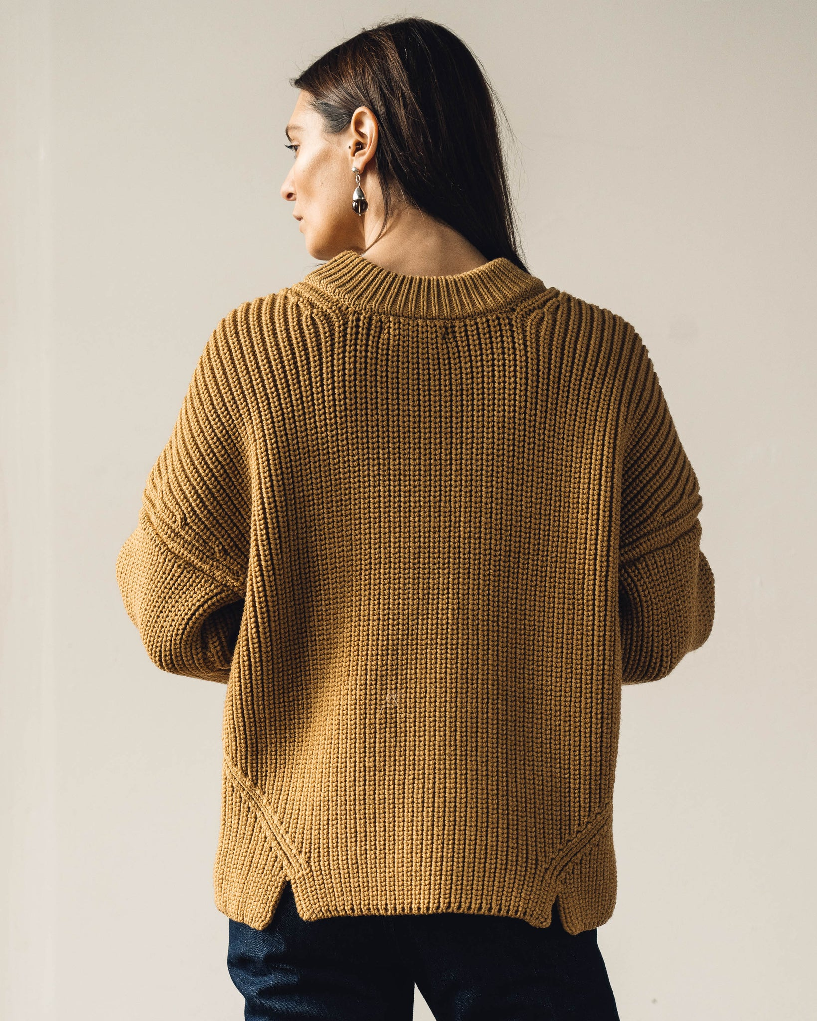 Micaela Greg Notched Hem Sweater, Ochre
