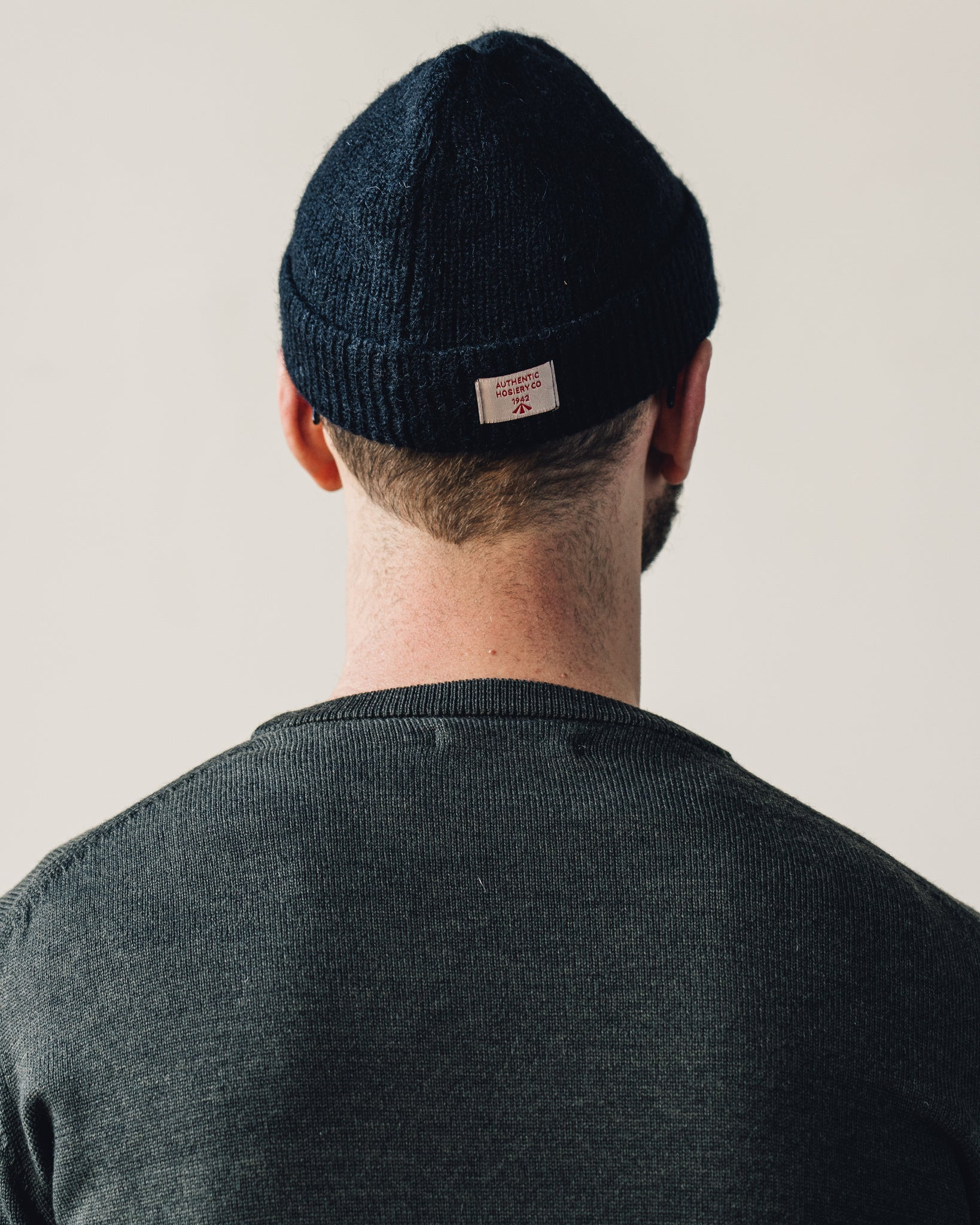 Nigel Cabourn Solid Beanie, Black Navy