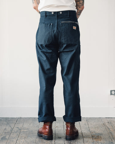 Nigel Cabourn Welders Pant, Black Navy