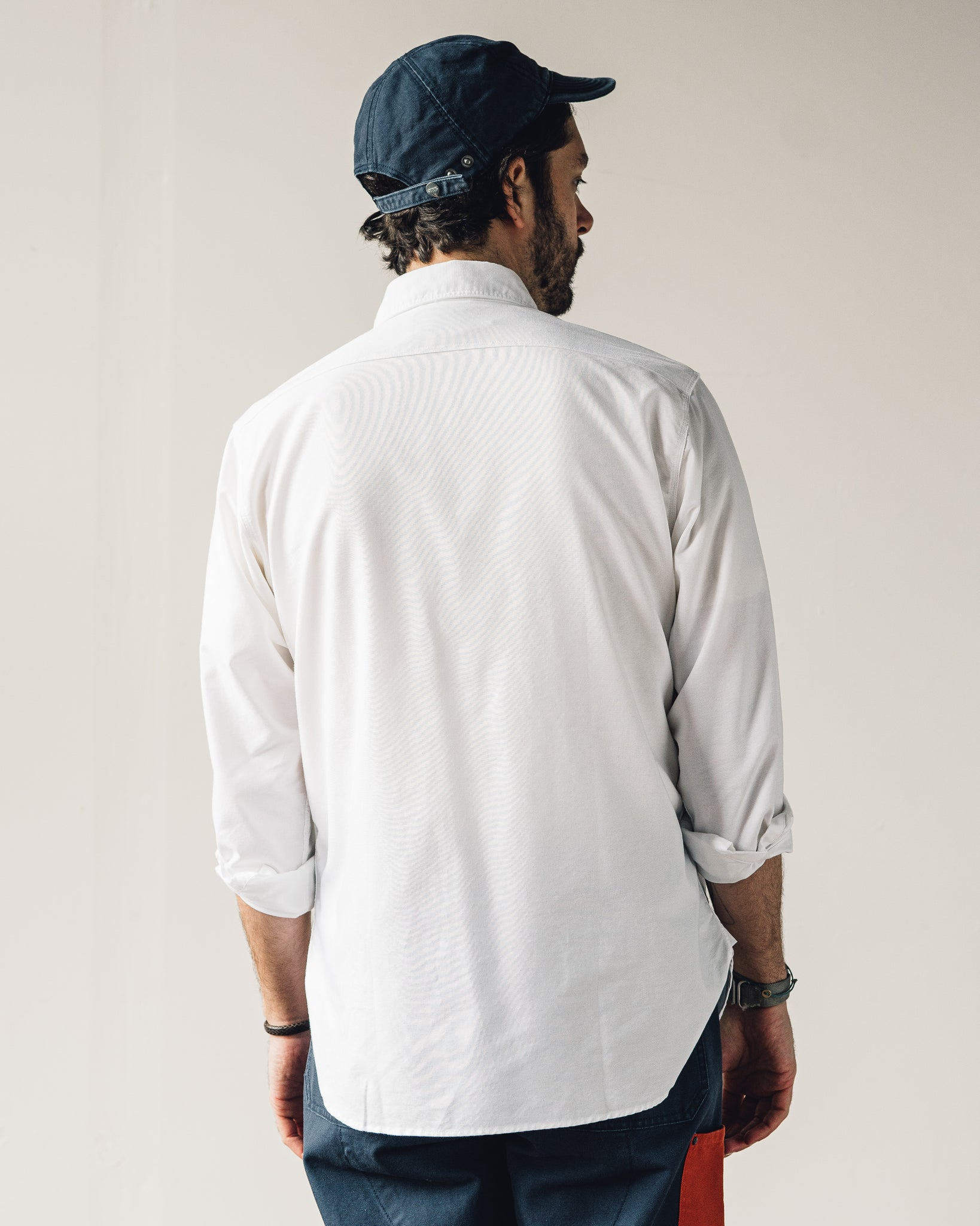 Nigel Cabourn Basic Oxford, White
